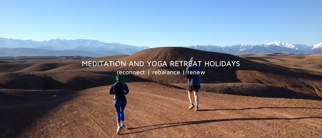 Running and meditation in the Marrakesh Desert