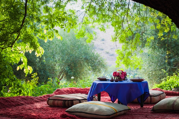 Morocco retreat in countryside