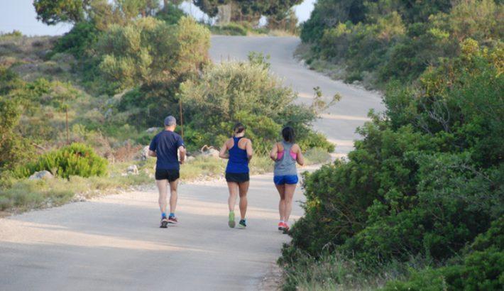 Running on Lefkada Island