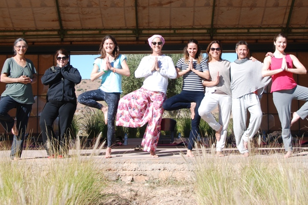Tree Pose in Morocco