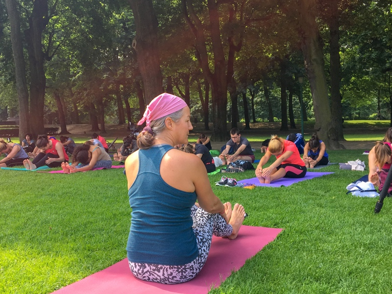 Yoga in Park Tenbosch